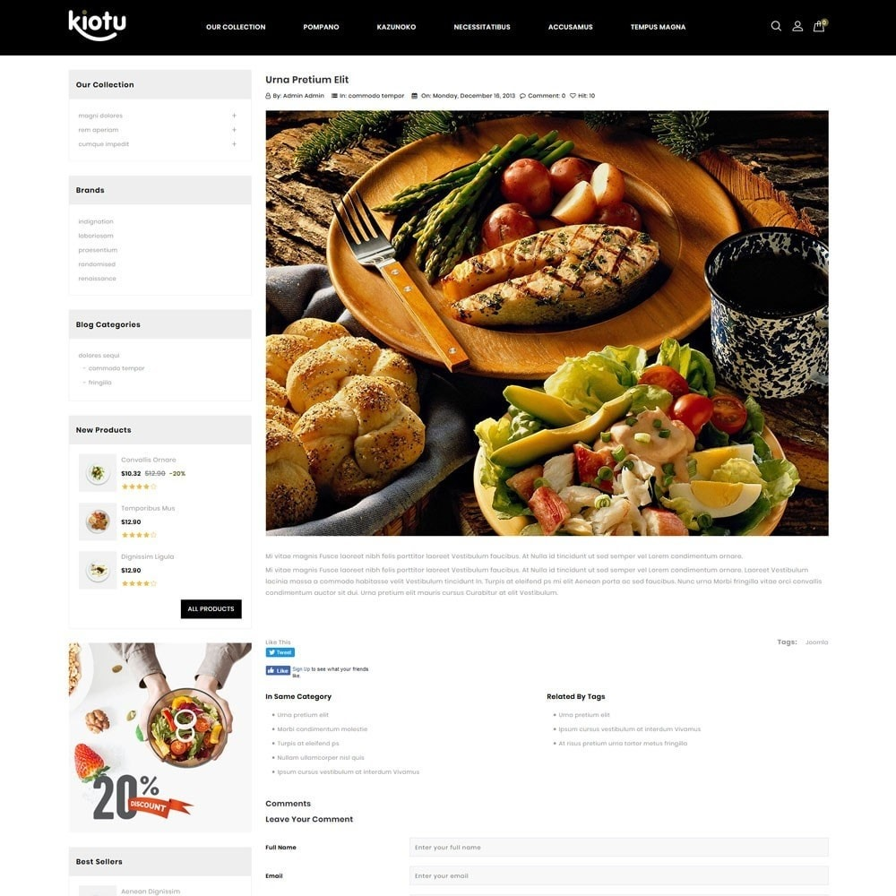 theme - Продовольствие и рестораны - Kiotu - The Fast Food Shop - 7