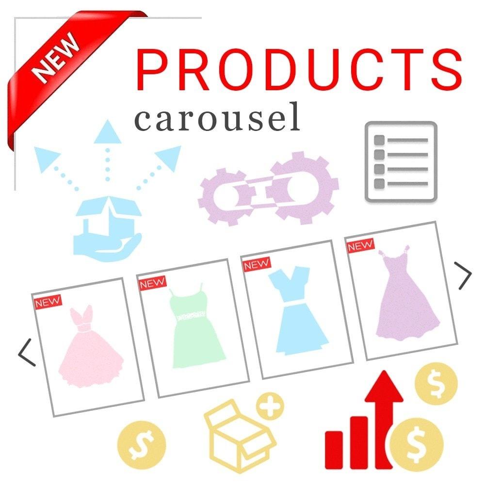 module - Слайдеров (карусельных) и галерей - Адаптивная карусель (слайдер) с новыми продуктами - 1