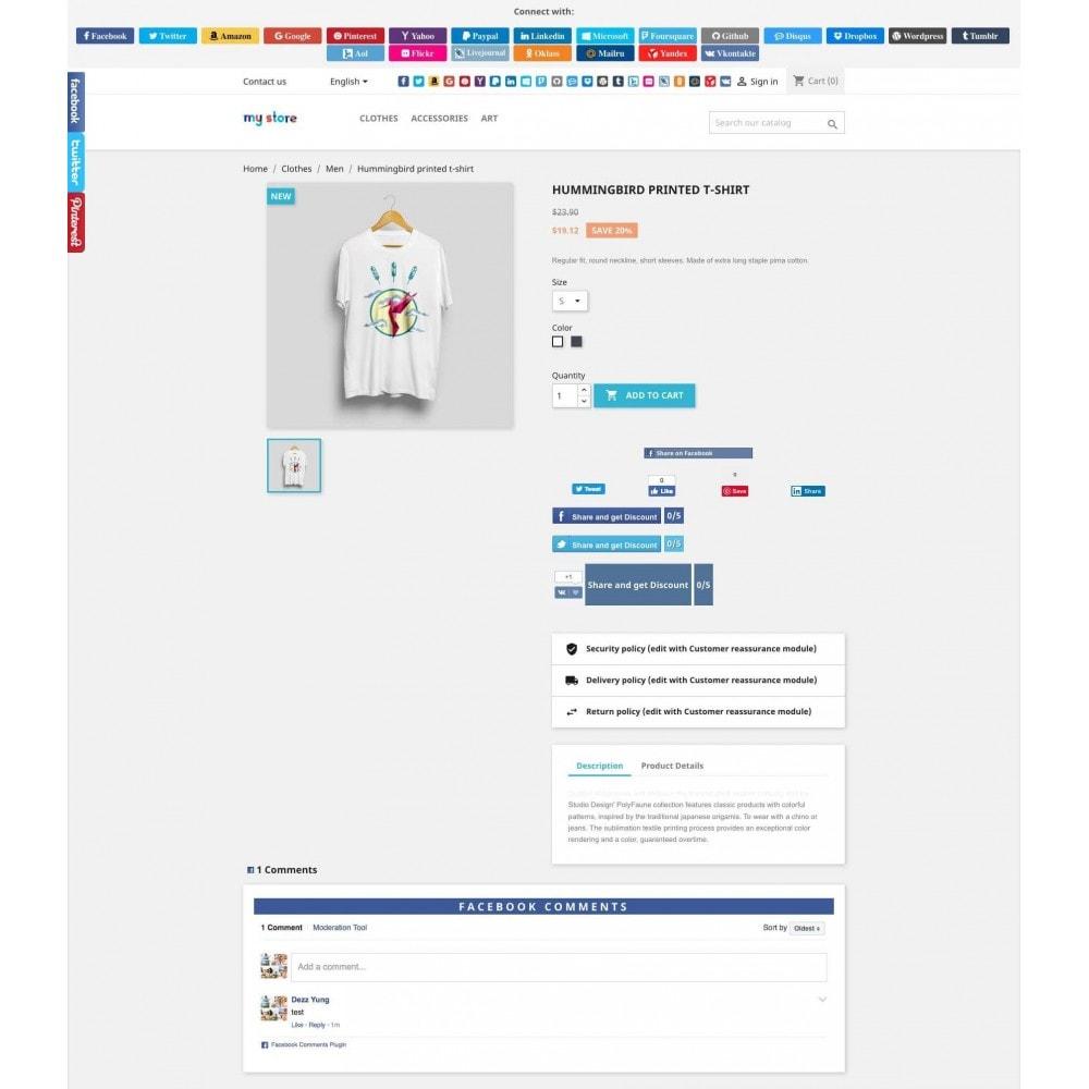module - Boutons Login & Connect - Social Pack: Connexions, Parrainages, Plugins (34 en 1) - 1