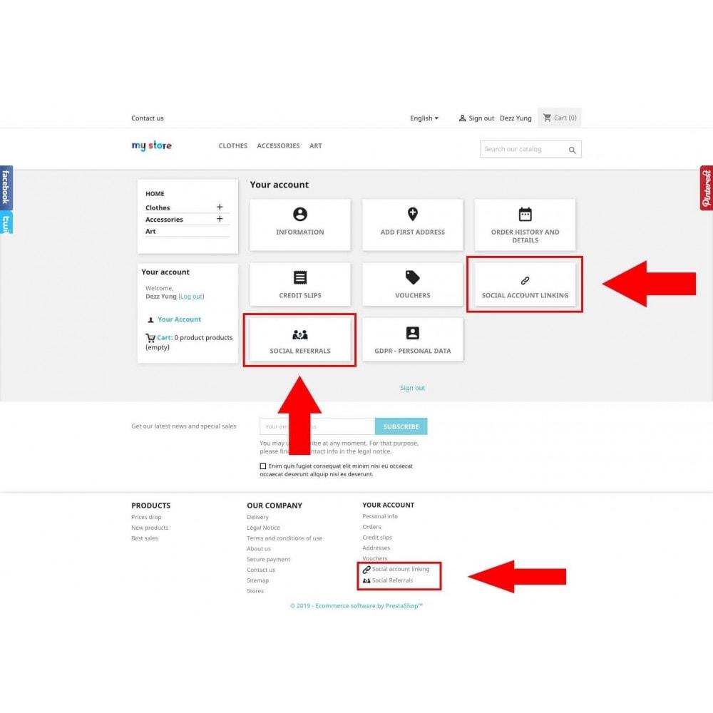 module - Boutons Login & Connect - Social Pack: Connexions, Parrainages, Plugins (34 en 1) - 7