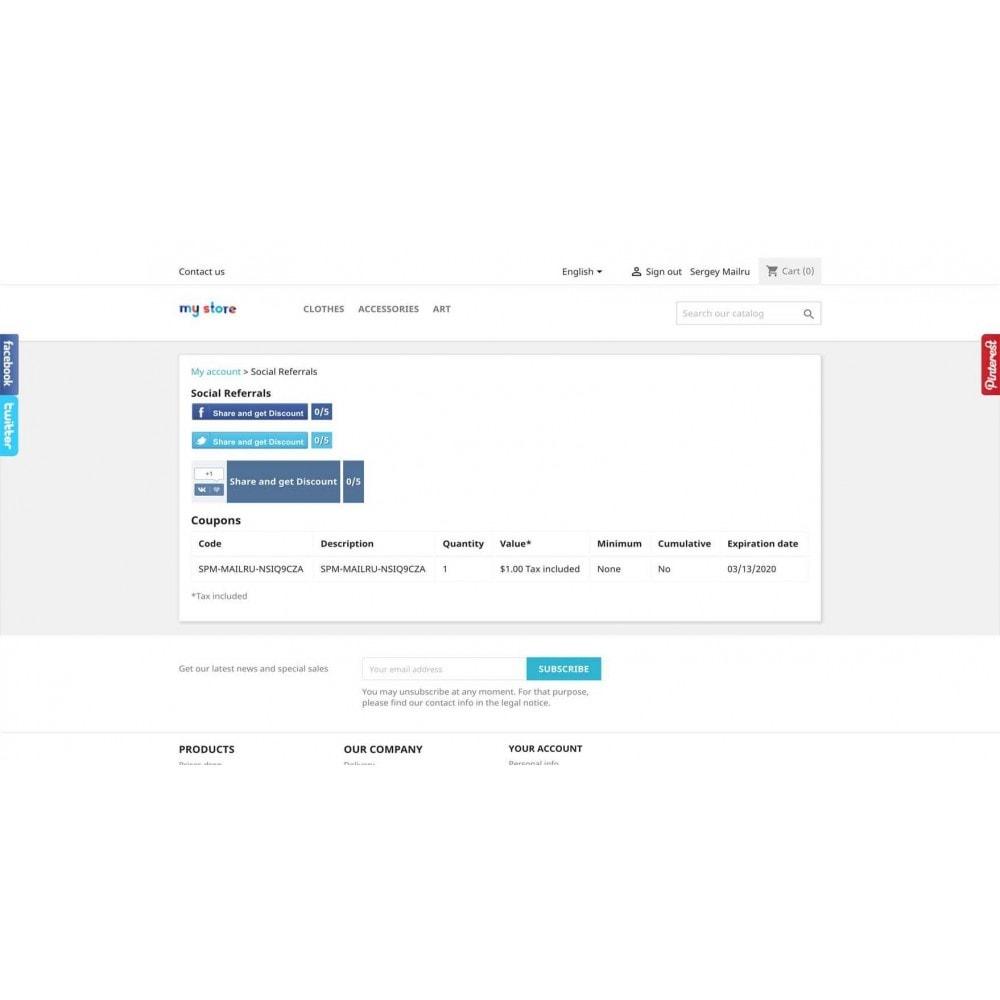 module - Boutons Login & Connect - Social Pack: Connexions, Parrainages, Plugins (34 en 1) - 9