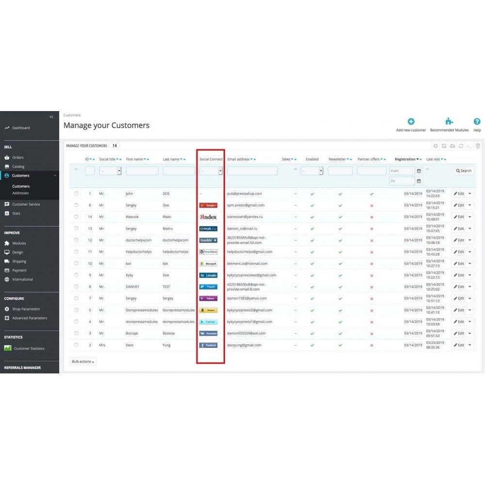 module - Boutons Login & Connect - Social Pack: Connexions, Parrainages, Plugins (34 en 1) - 28