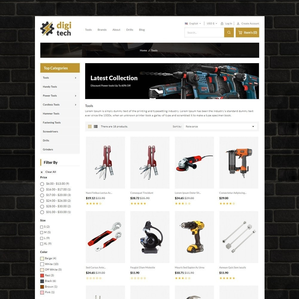 theme - Automotive & Cars - DIgitech Tools Store - 3