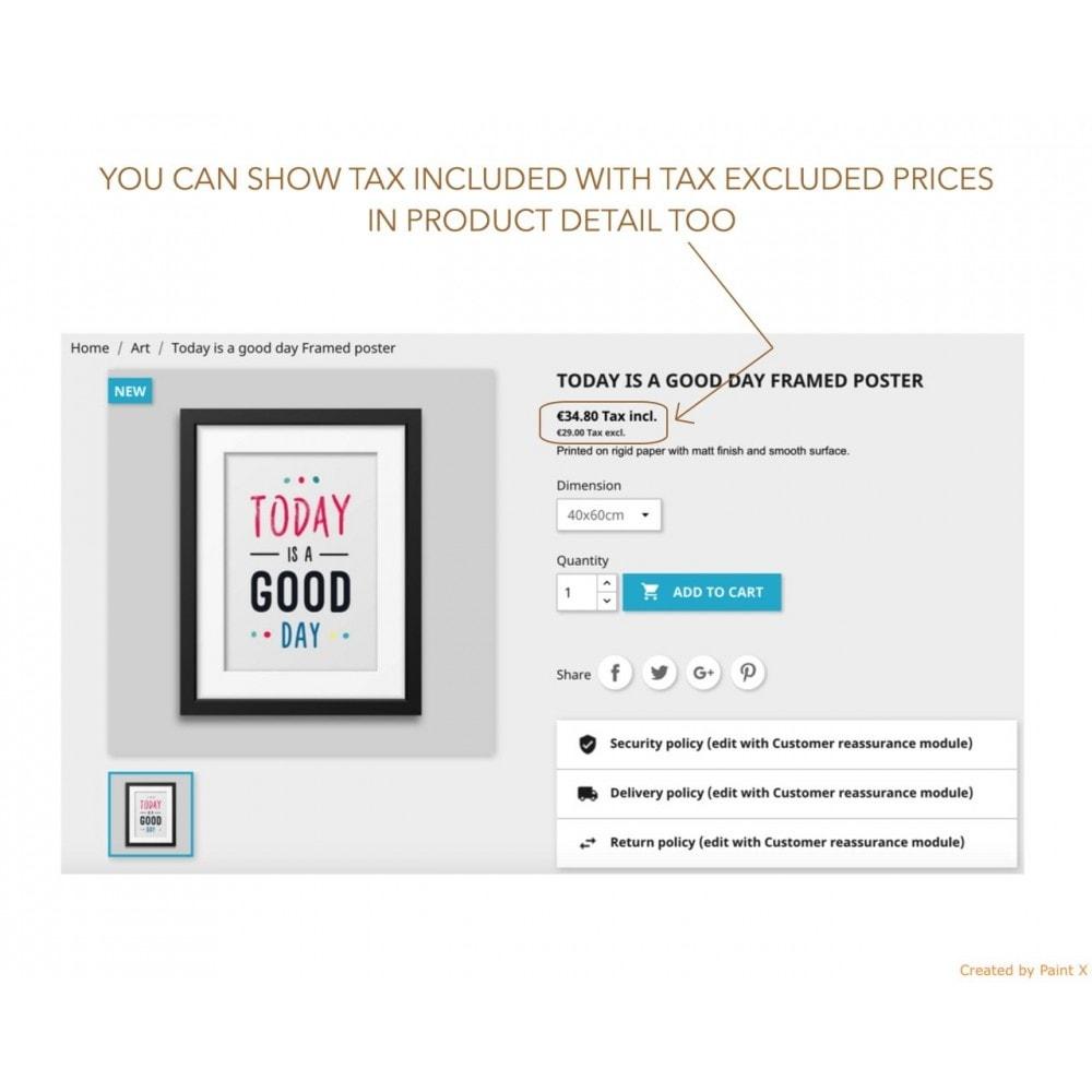module - Preisverwaltung - Duale Darstellung von Preisen mit und ohne Steuer - 2