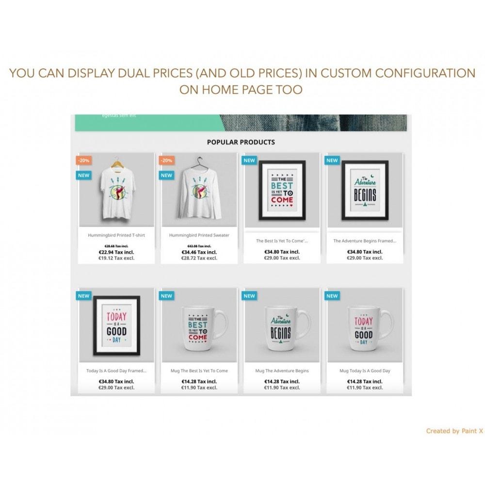 module - Zarządzanie cenami - Zaawansowane podwójne pokazanie cen z podatkiem i bez - 5