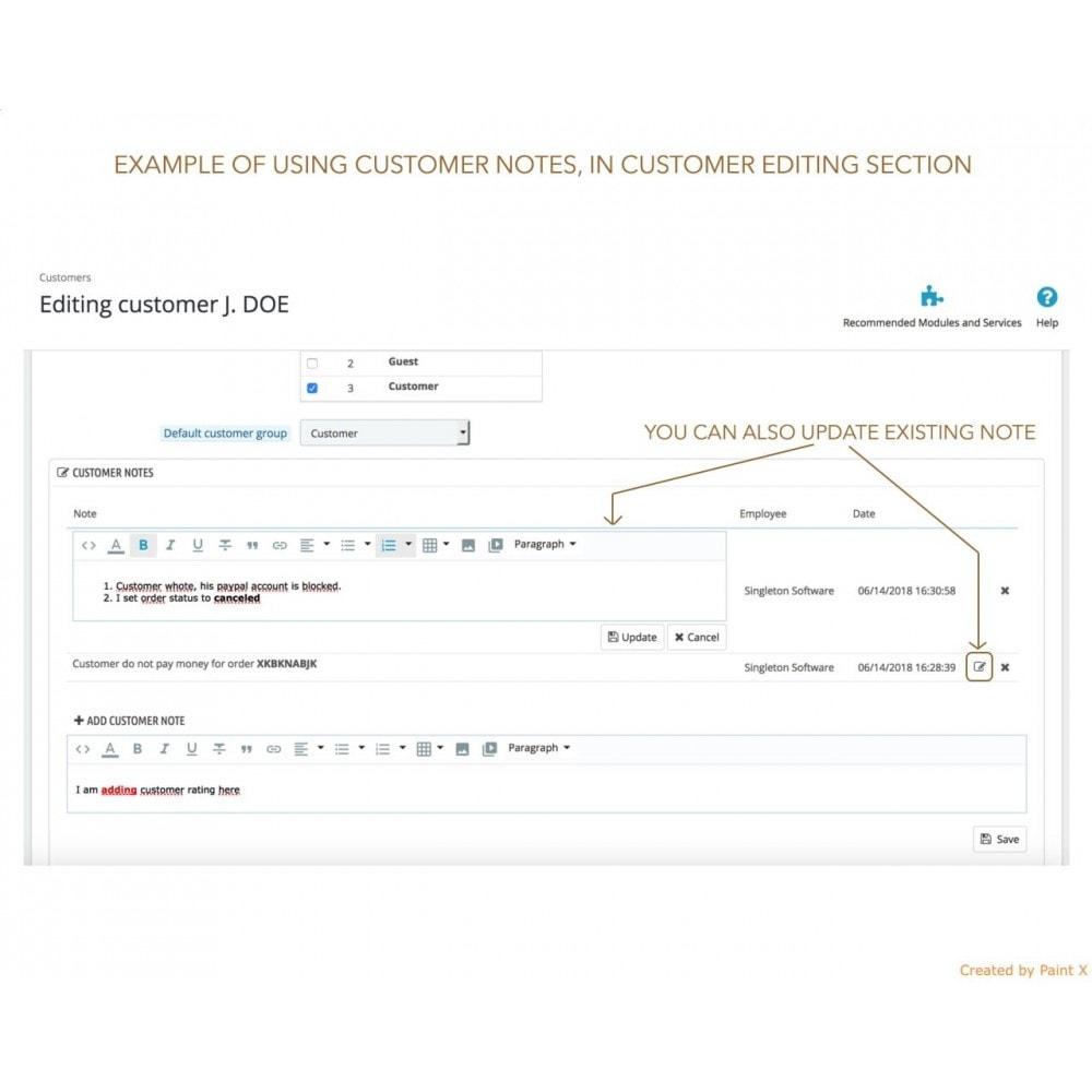 module - Anmeldung und Bestellvorgang - Erweiterte Anmerkung für Bestellung, Produkt und Kunde - 5