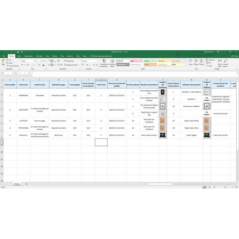 module - Importación y Exportación de datos - Exportación de Pedidos Pro (Excel, CSV, PDF, Email,FTP) - 9