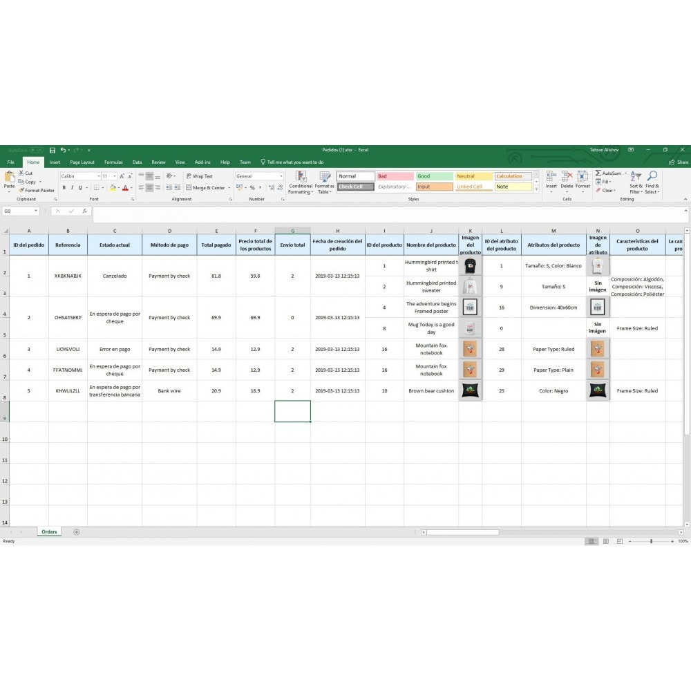 module - Importación y Exportación de datos - Exportación de Pedidos Pro (Excel,CSV,PDF,Email,FTP) - 8