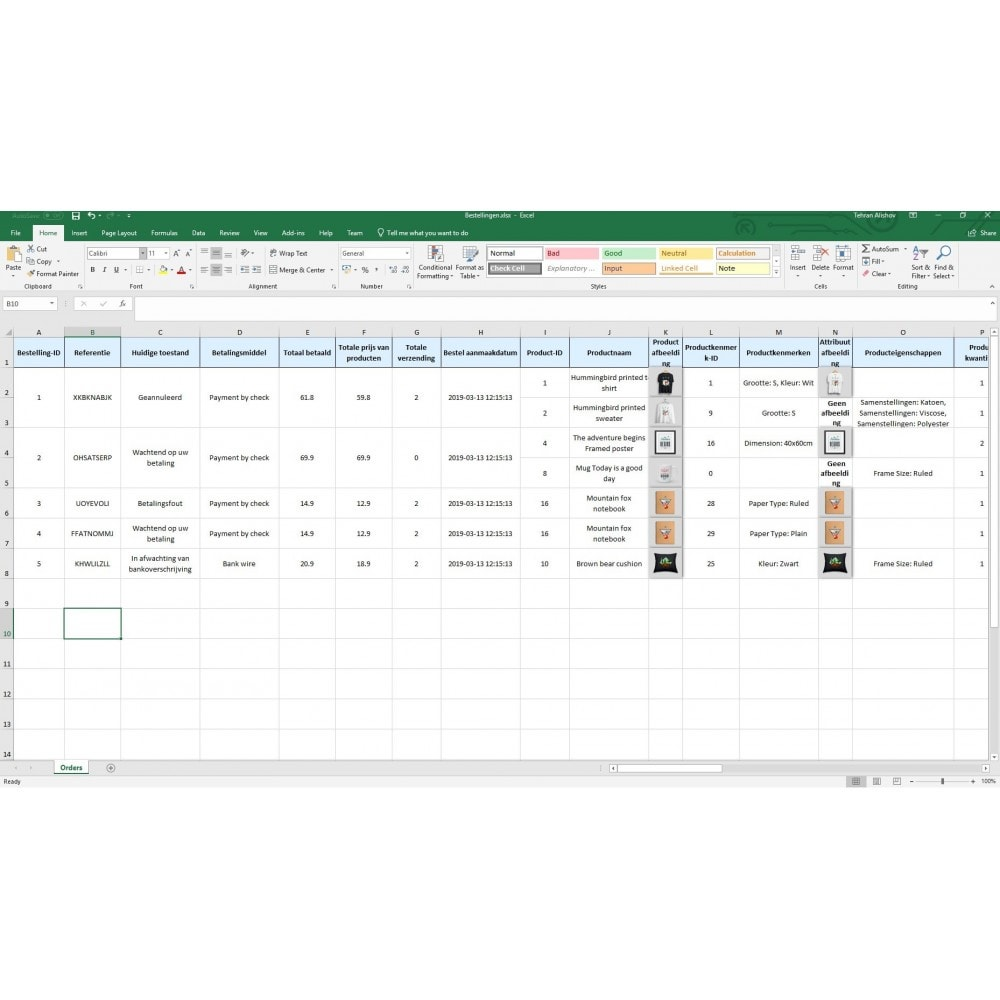 module - Importeren en Exporteren van data - Bestellingen Exporteren Pro (Excel,CSV,PDF,Email,FTP) - 9
