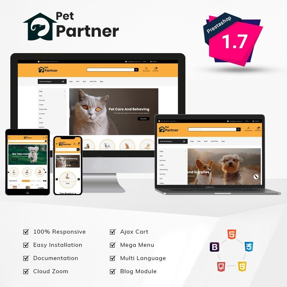 theme - Animais - Pets Partner Store - 1
