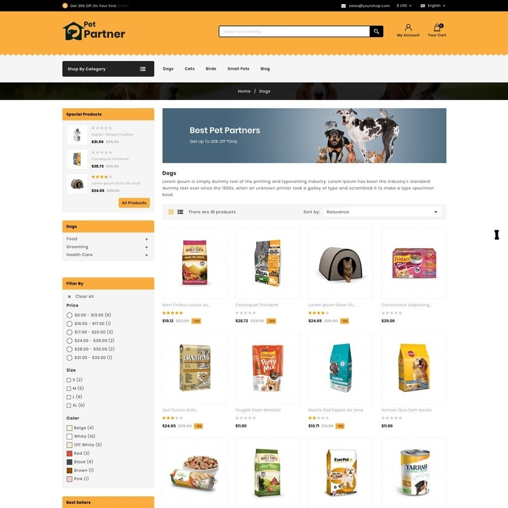theme - Animais - Pets Partner Store - 3