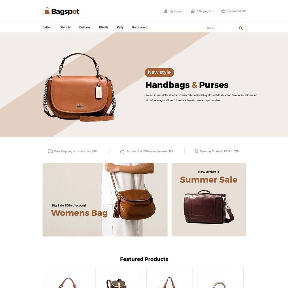 theme - Fashion & Shoes - Bagspot - Bag Fashion Store - 2
