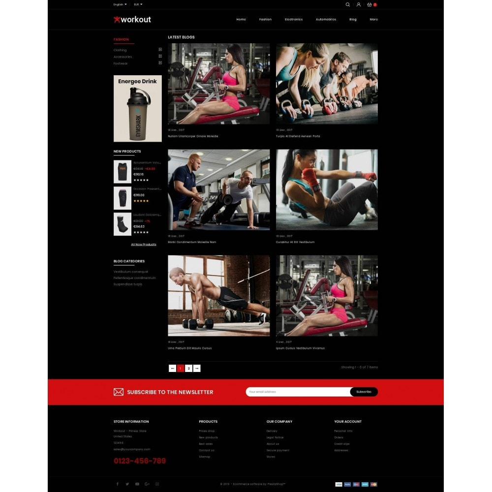 theme - Gesundheit & Schönheit - Workout - Fitness Store - 9