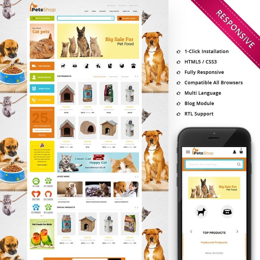 theme - Animals & Pets - Petsshop - The Animal Store - 1