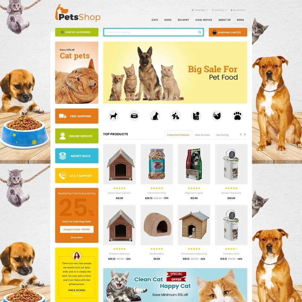 theme - Animals & Pets - Petsshop - The Animal Store - 2