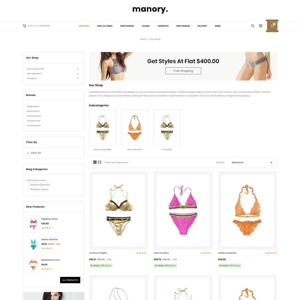 theme - Нижнее белье и товары для взрослых - Manory - The Lingerie Shop - 4