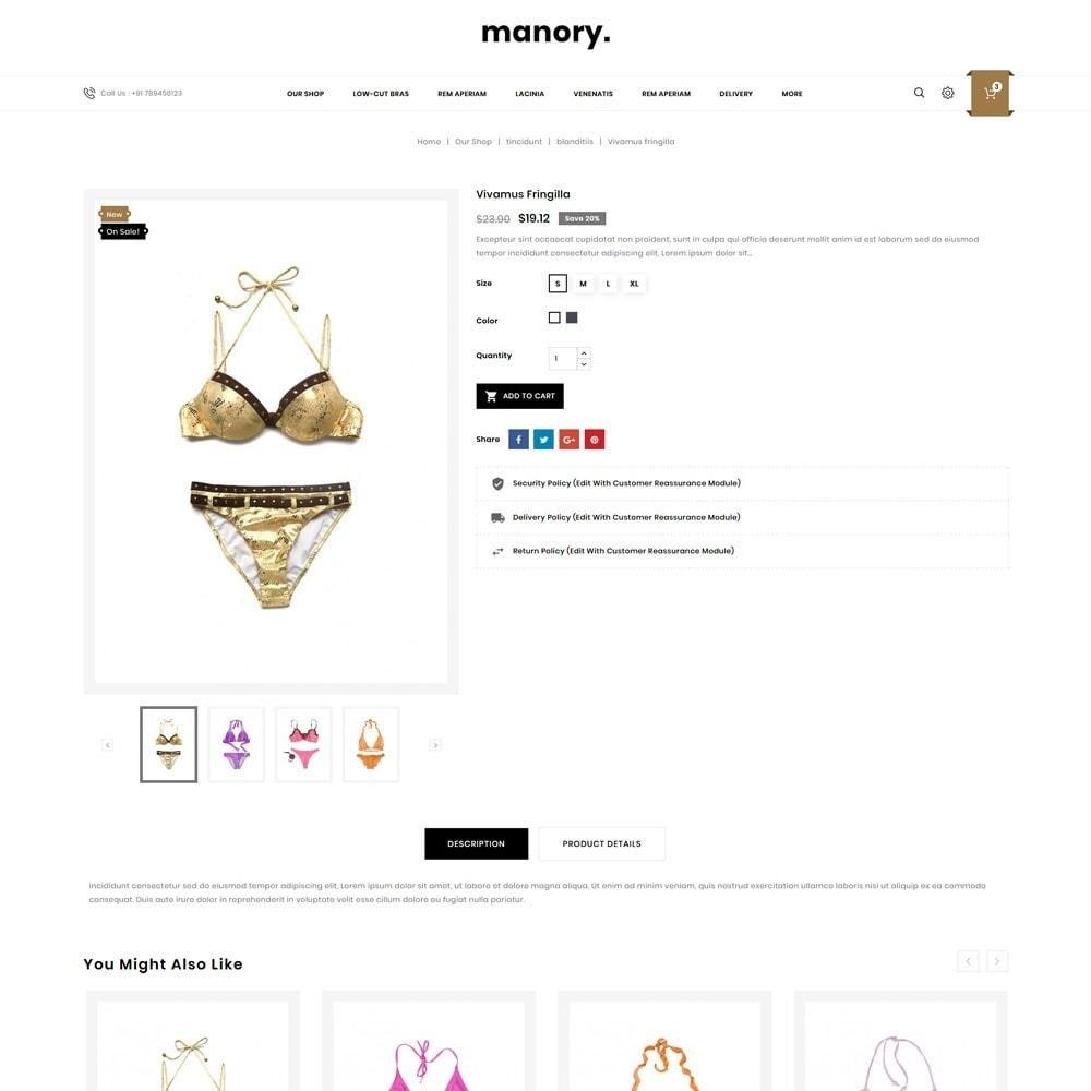 theme - Нижнее белье и товары для взрослых - Manory - The Lingerie Shop - 6