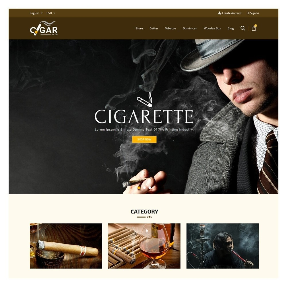 theme - Drink & Wine - Cigar Drink & Tobacco - 2
