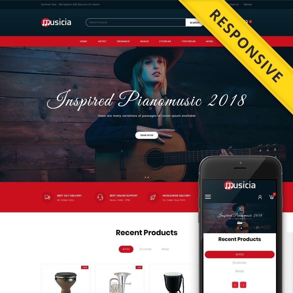 theme - Sport, Aktivitäten & Reise - Musicia - Musical Instruments Shop - 1