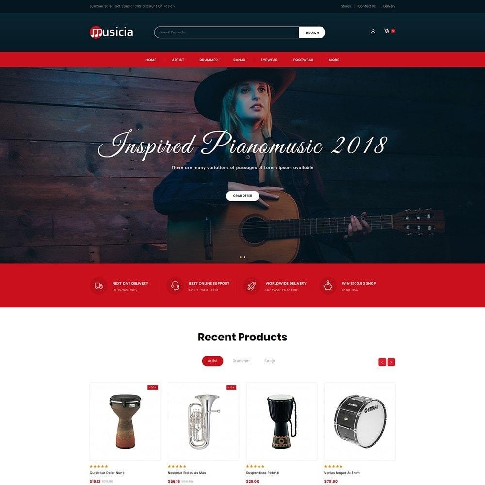 theme - Deportes, Actividades y Viajes - Musicia - Musical Instruments Shop - 2
