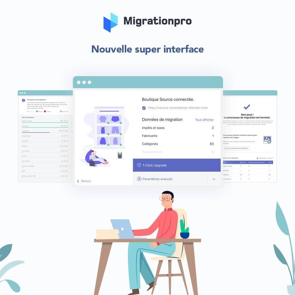 module - Migration de Données & Sauvegarde - Outil de migration PrestaShop - 6