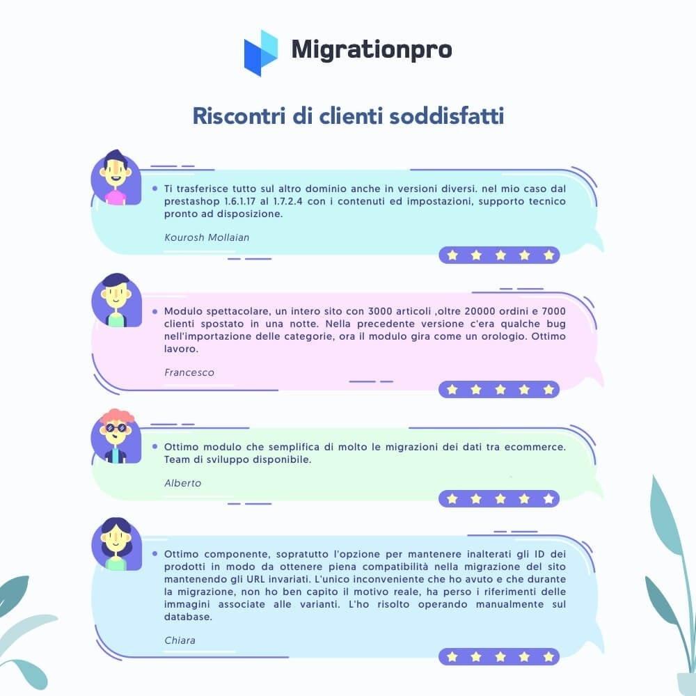 module - Data Migration & Backup - Tool di Aggiornamento e Migrazione di Prestashop - 9