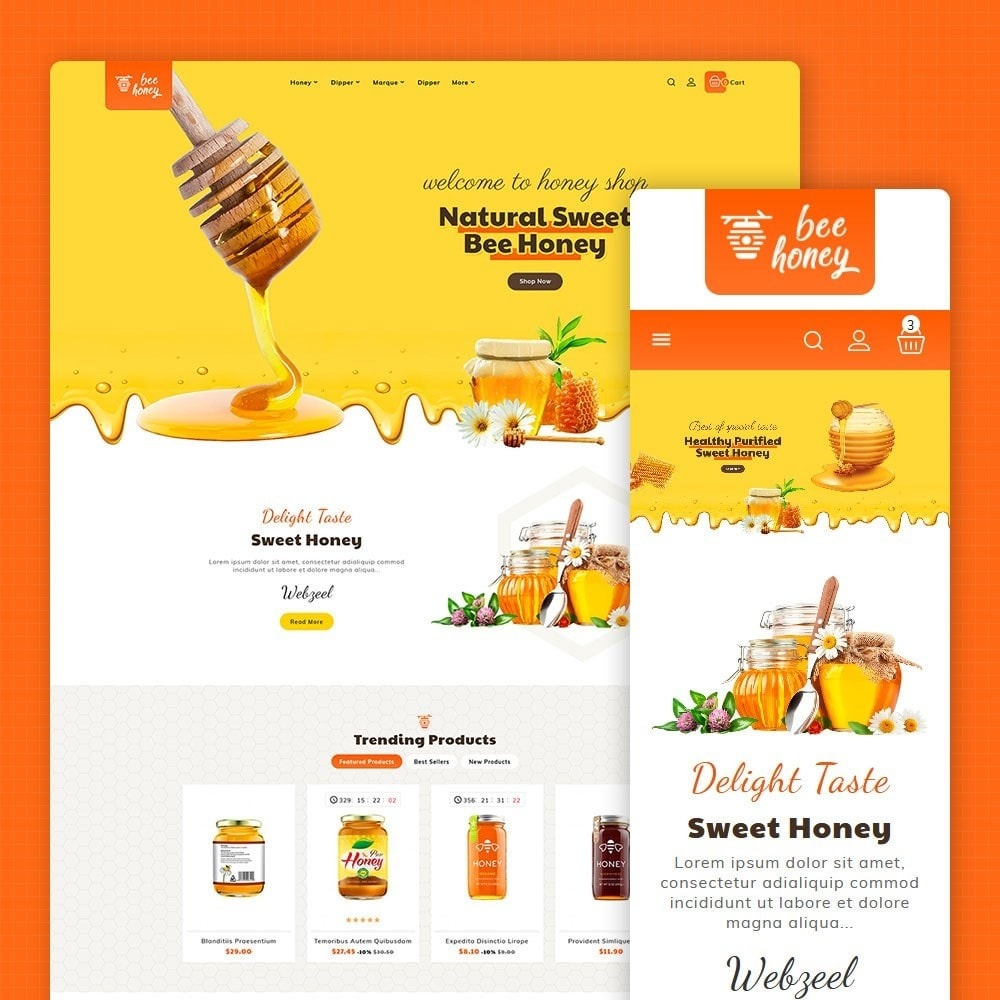 theme - Health & Beauty - Honey Bee - Agro Bee & Sweet Shop - 1