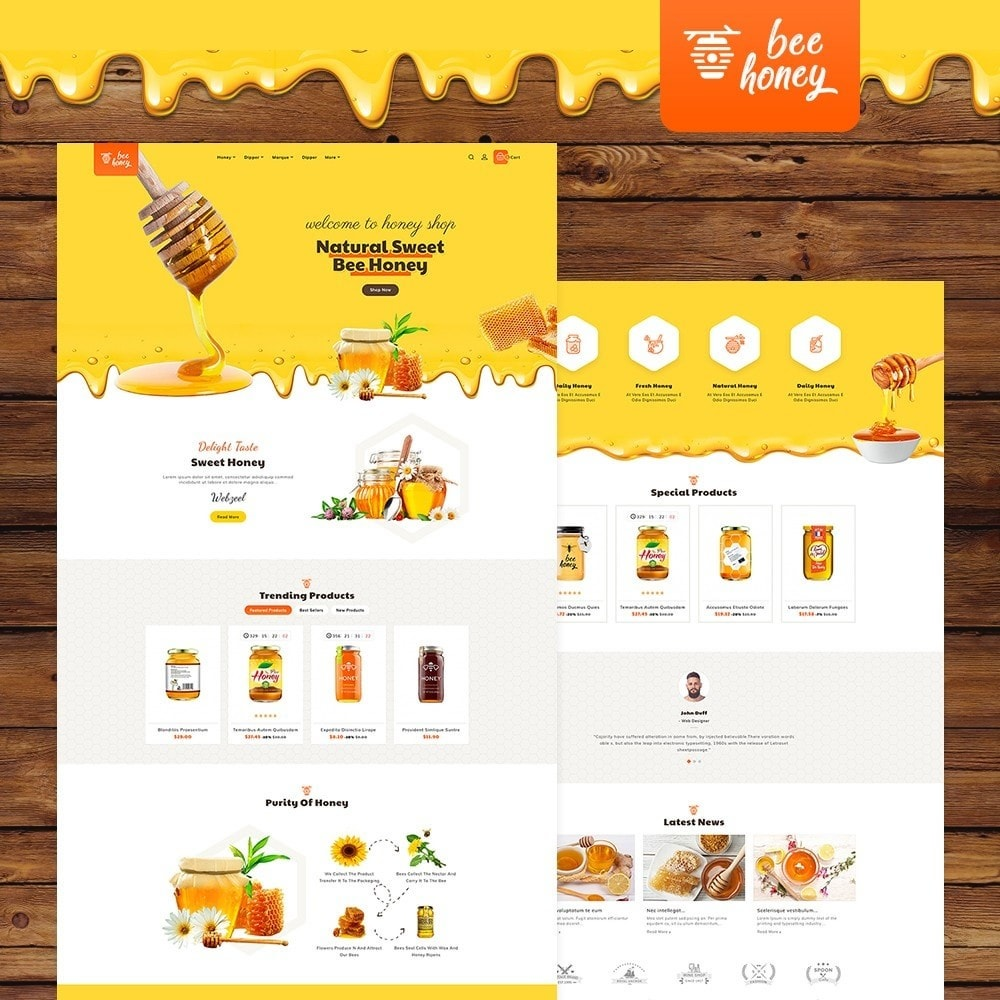 theme - Health & Beauty - Honey Bee - Agro Bee & Sweet Shop - 2