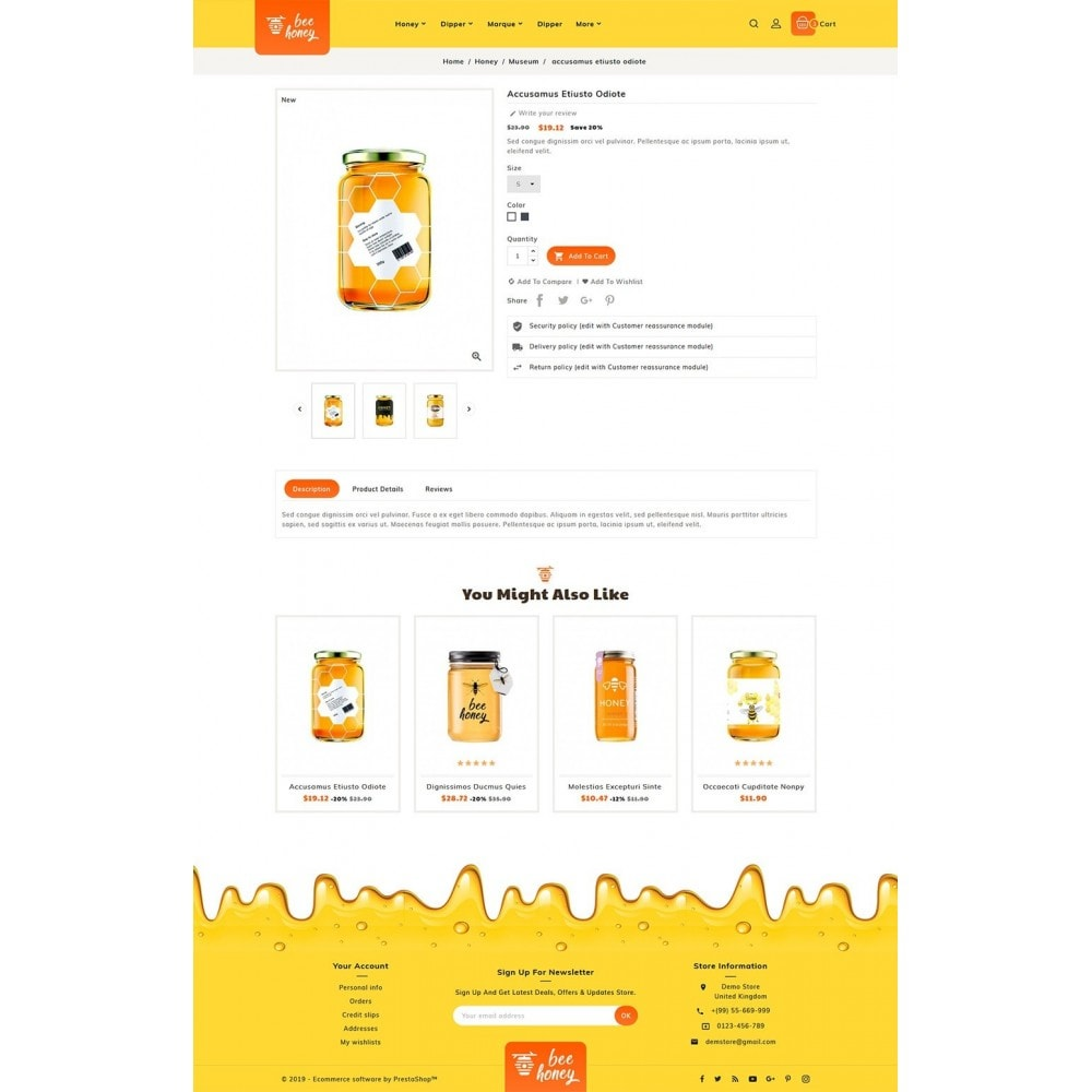theme - Health & Beauty - Honey Bee - Agro Bee & Sweet Shop - 5