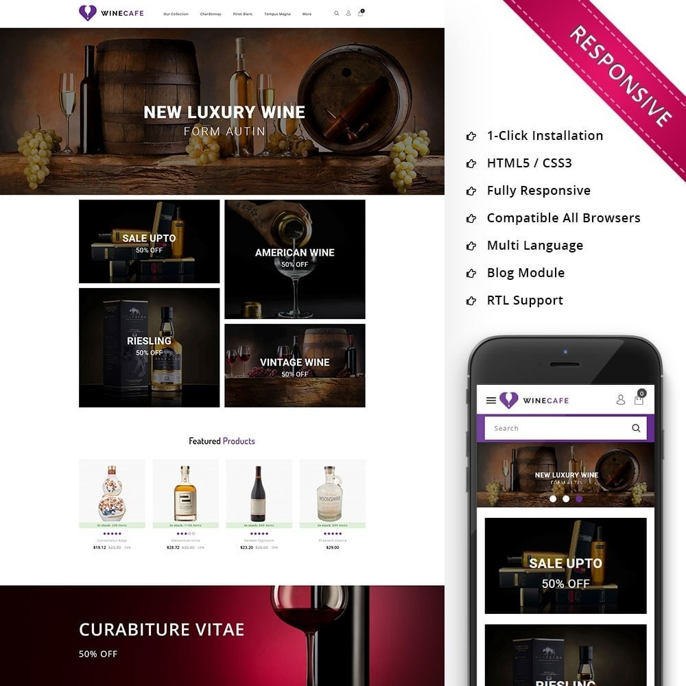 theme - Bebidas & Tabaco - Winecafe - The Wine Store - 1