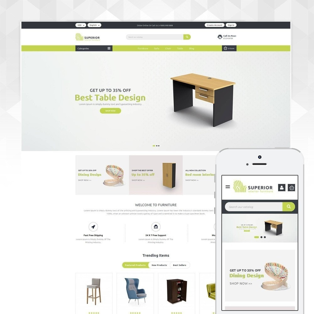 theme - Dom & Ogród - Superior- The Furniture Shop - 1