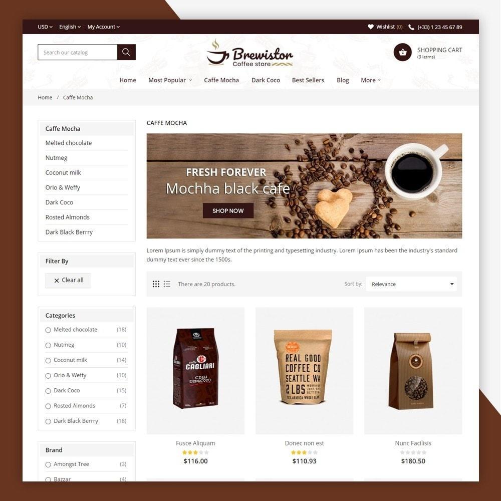 theme - Alimentation & Restauration - Brewistor - Coffee Store - 6