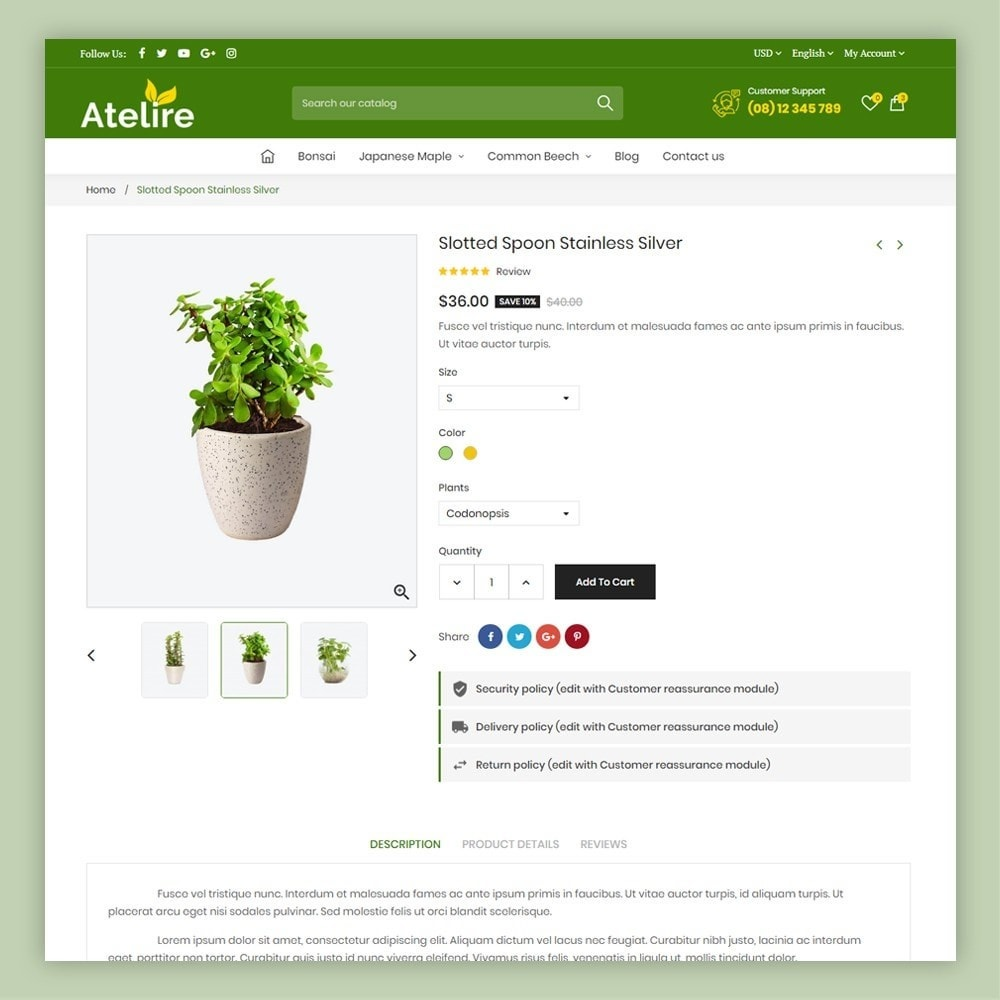 theme - Casa & Jardins - Atelier Plant Nursery & Garden Store - 7