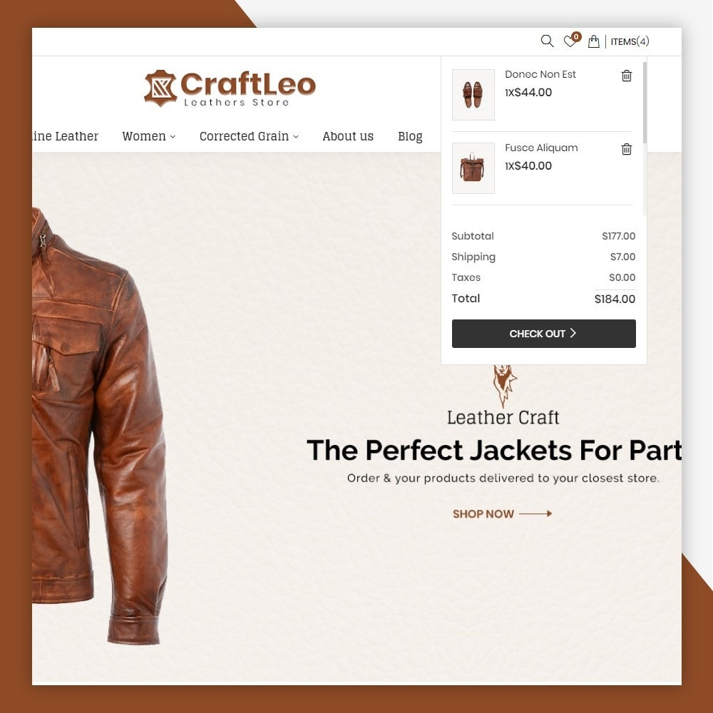 theme - Moda & Obuwie - CraftLeo - Leather Fashions Store - 4
