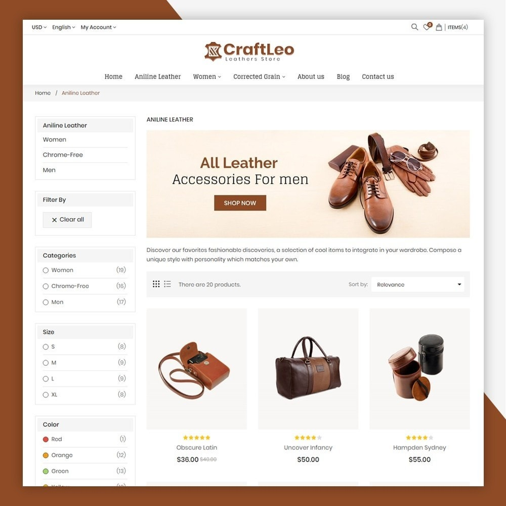 theme - Mode & Schuhe - CraftLeo - Leather Fashions Store - 5