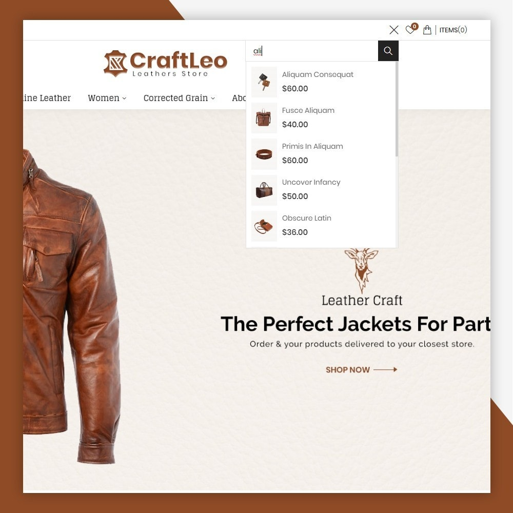 theme - Mode & Chaussures - CraftLeo - Leather Fashions Store - 4