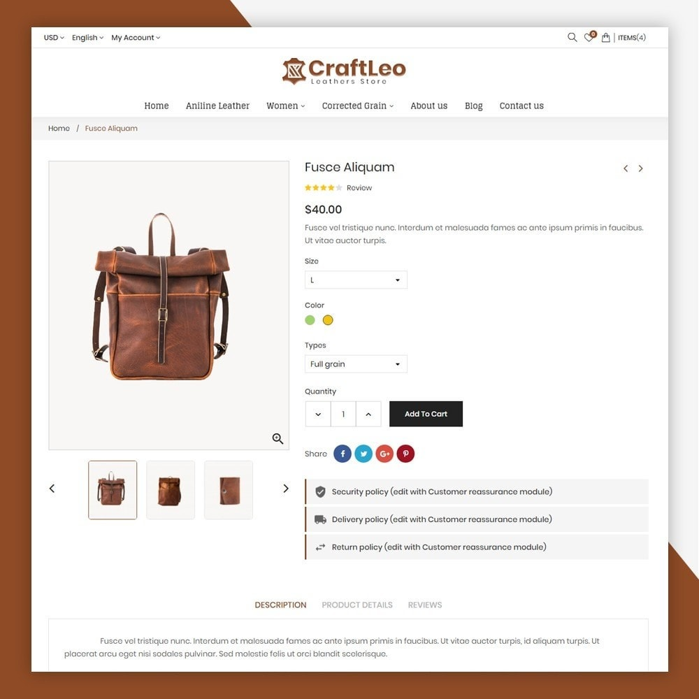 theme - Mode & Chaussures - CraftLeo - Leather Fashions Store - 8