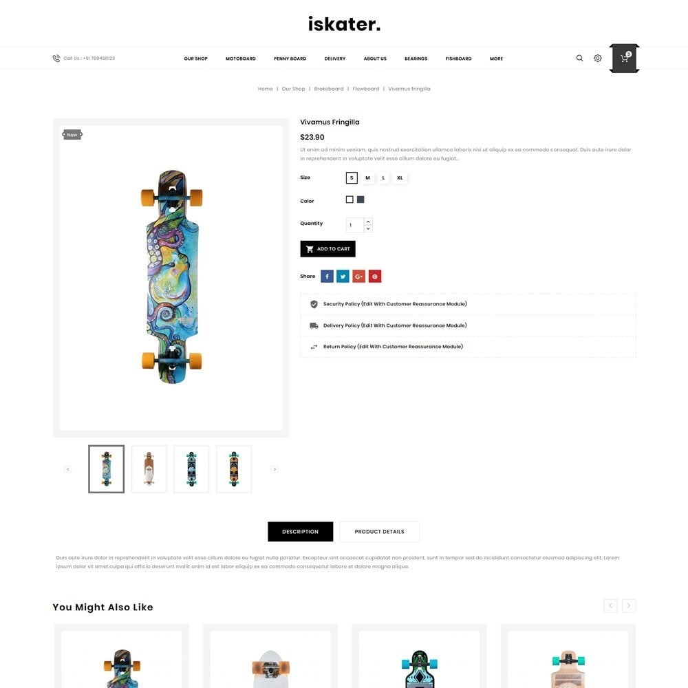 theme - Sports, Activities & Travel - Iskater - The Sport Shop - 6