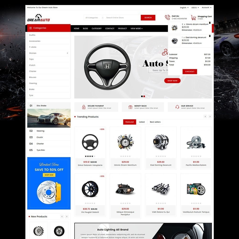 theme - Automotive & Cars - Dream Auto - 3