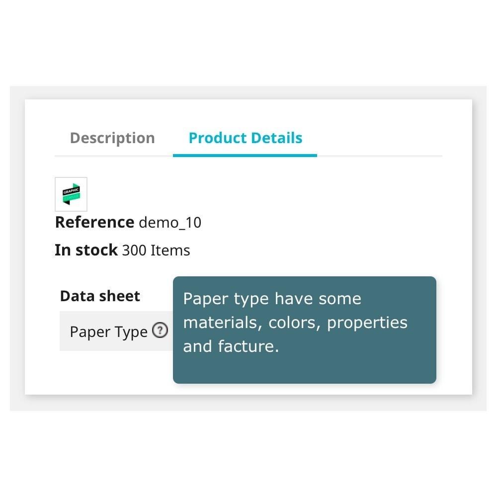 module - Additional Information & Product Tab - Product Feature Description – Custom Description - 1