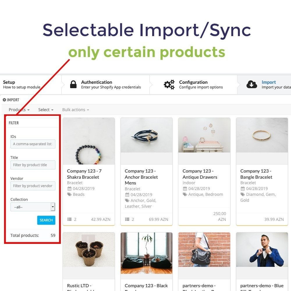 module - Migración y Copias de seguridad - Shopify to PrestaShop Catalog Synchronization & Import - 6