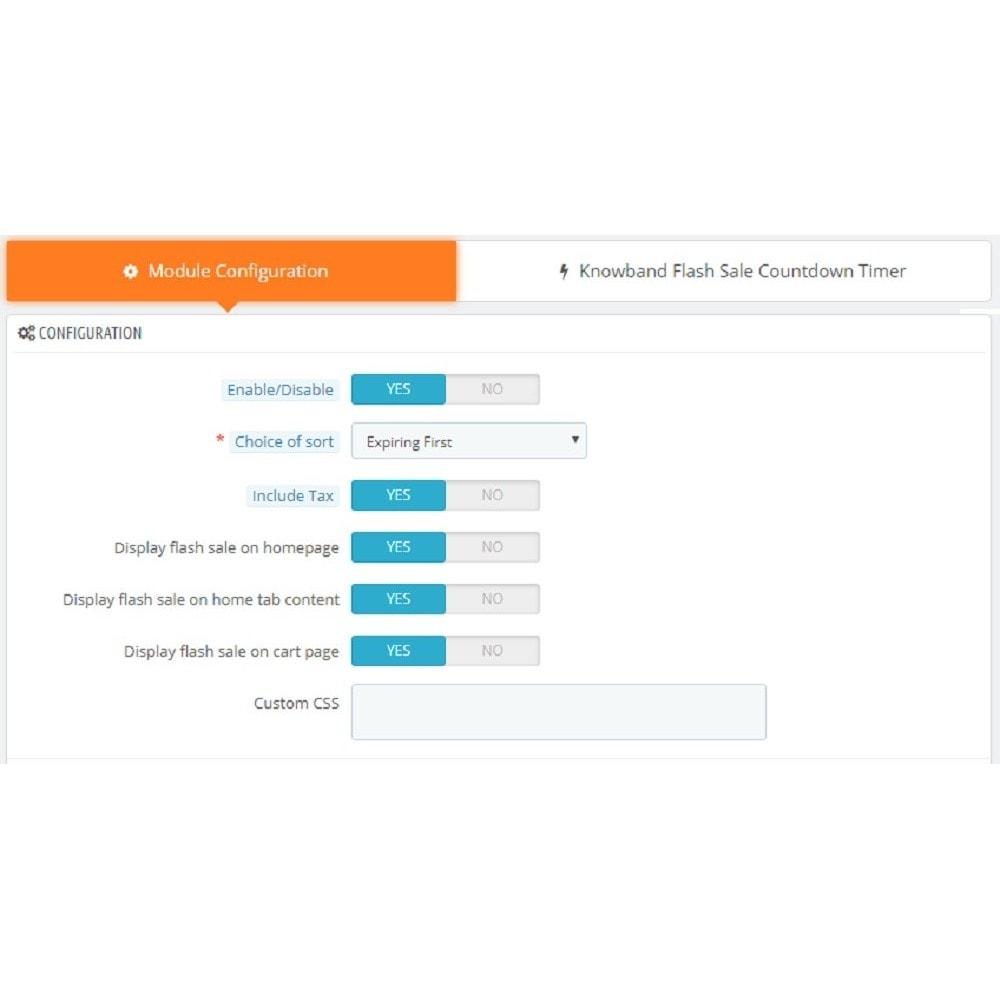 module - Sprzedaż Flash & Sprzedaż Private - Knowband - Flash Sale Countdown Timer - 4