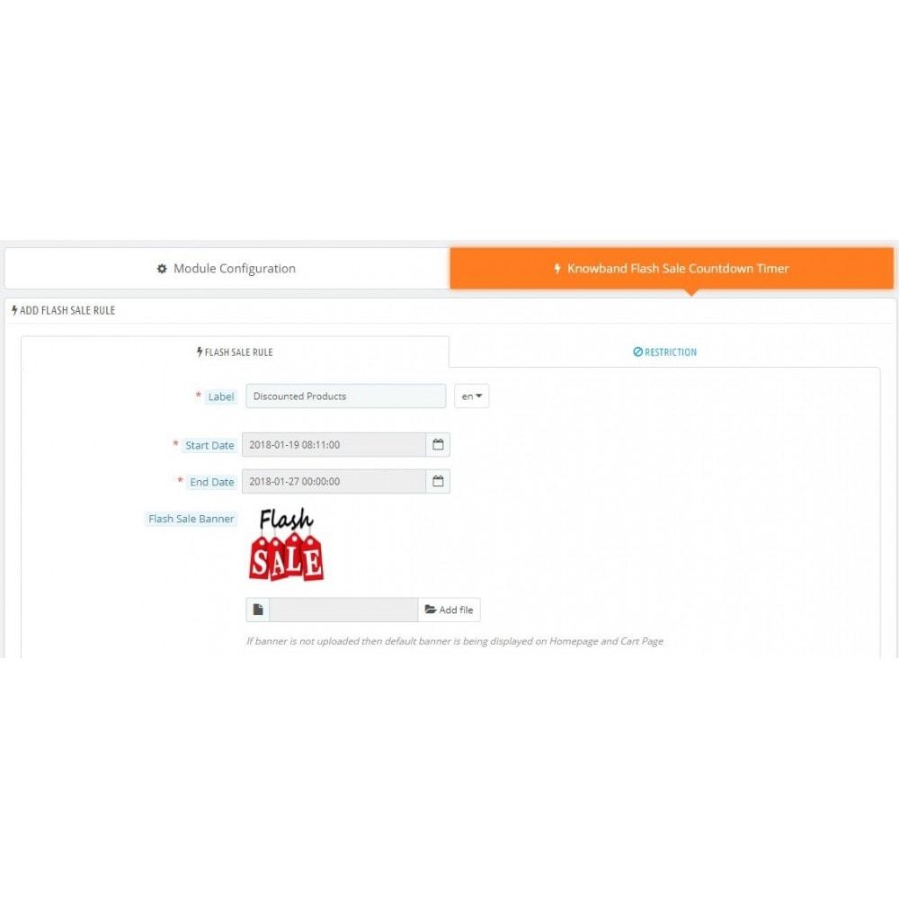 module - Ventes Flash & Ventes Privées - Knowband - Compte à rebours Flash Sale - 6