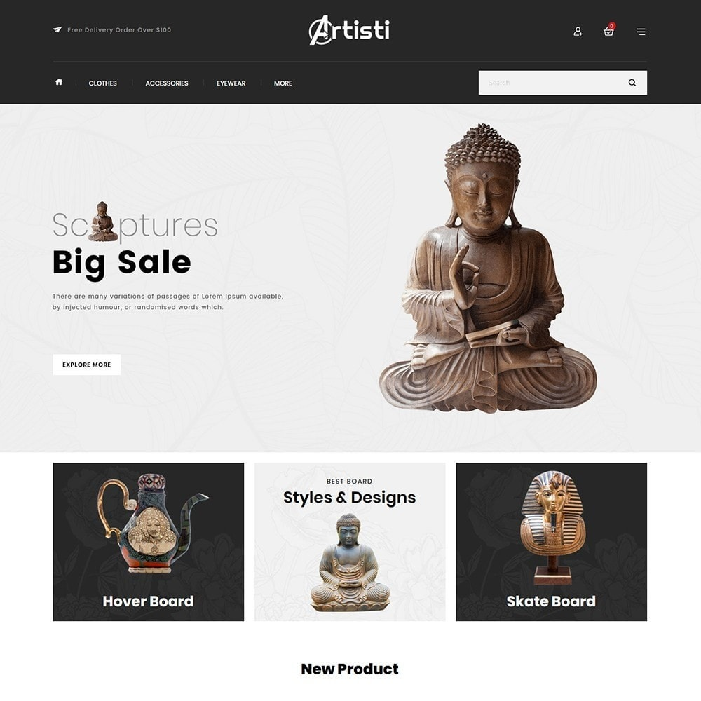 theme - Art & Culture - Artisti - Art Gallery Store - 2