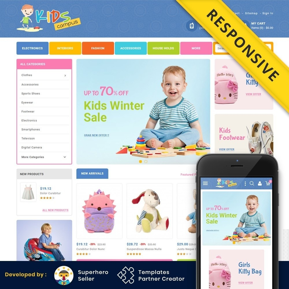 theme - Kids & Toys - Kids Campus - Toys & Baby Shop - 1