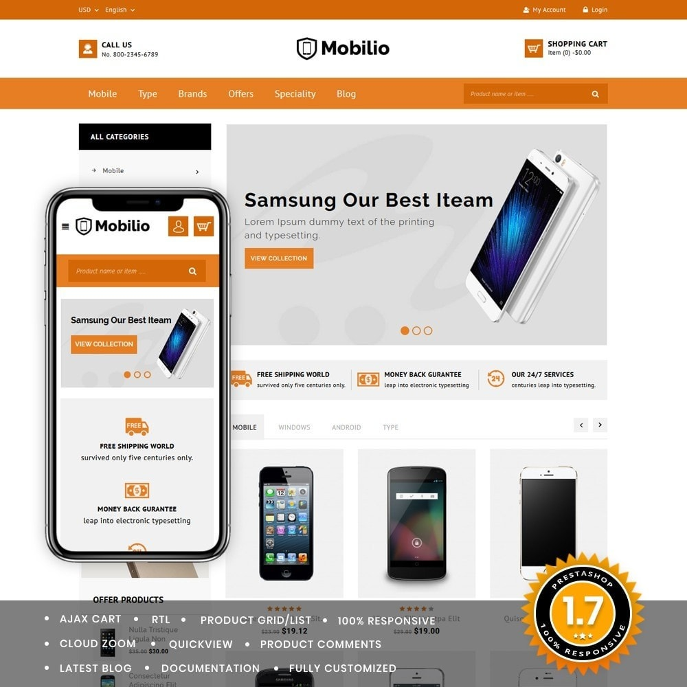theme - Electronics & Computers - Mobilio Mobile Shop - 1