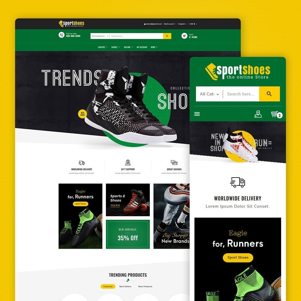 theme - Fashion & Shoes - Sports Shoes & Footwear - 1