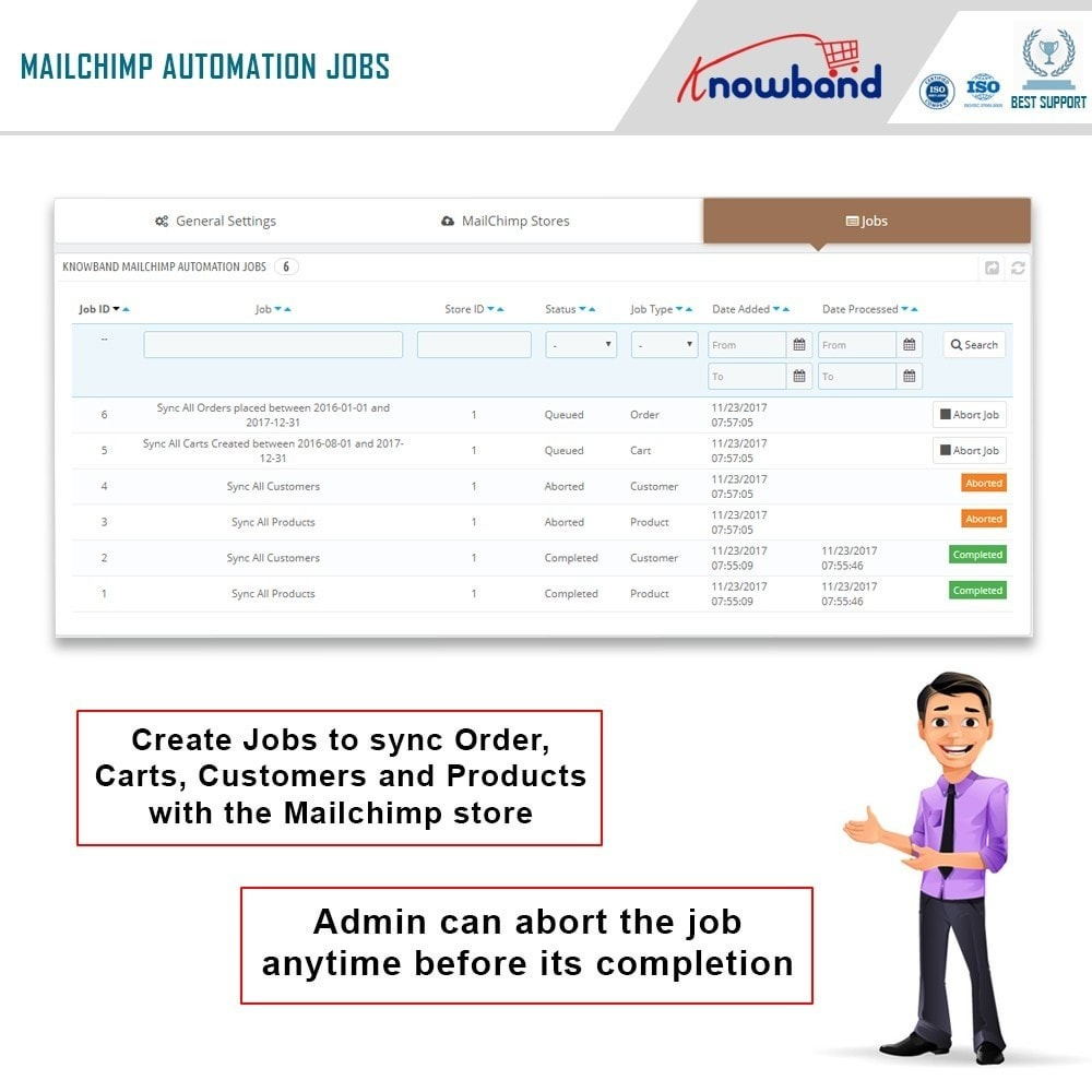 module - Newsletter y SMS - Knowband - Automatización Mailchimp - 4