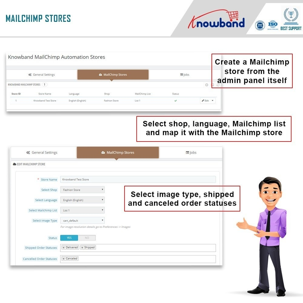module - Newsletter & SMS - Knowband - Mailchimp Automation - 3