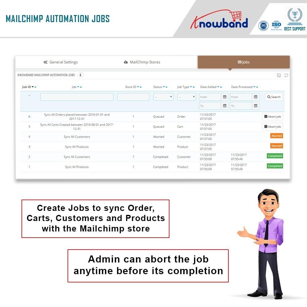 module - Рассылка новостей и SMS - Knowband - Mailchimp Automation - 4